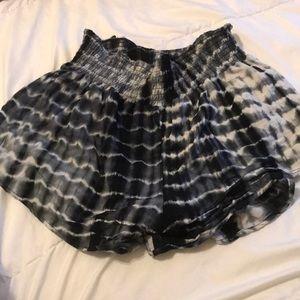 Large tye dye shorts boho